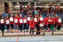 U8 Mannschaft auf Platz1 beim Hallenwettkampf in Schmiden